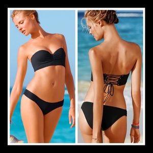 Victoria's Secret Longline Corset Back Bikini Top